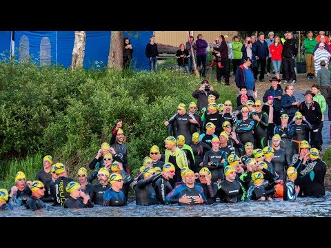 Swim Arctic Circle: Pello Finland Övertorneå Sweden open water swimming competition in Lapland