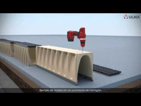 C mo instalar canales de drenaje prefabricados de hormig n - Bloques de hormigon bricodepot ...