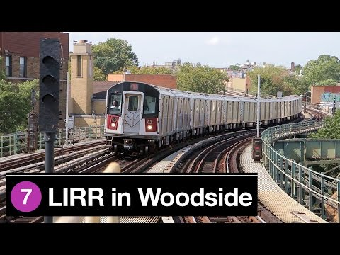 NYC: Subway and LIRR in Woodside, Queens