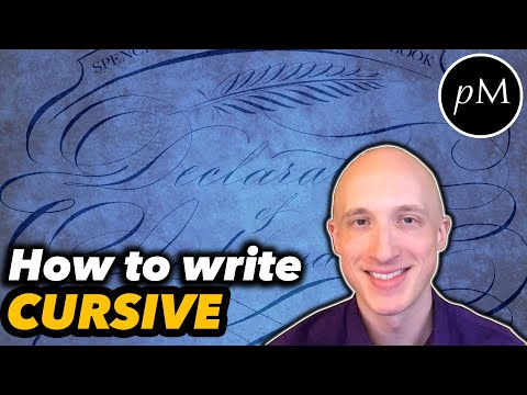 Why I learned to write in cursive (Spencerian)