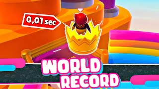 *WORLD RECORD* 0,01 SEC TO WIN! Fall Guys Fails & Wins #1