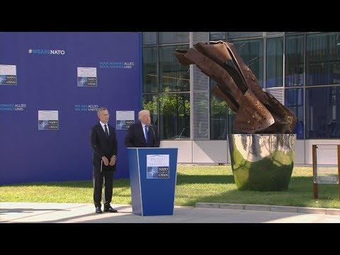 President Trump Participates in the NATO Unveiling of the Article 5 and Berlin Wall Memorials