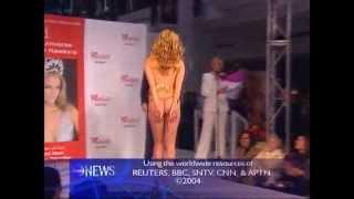 oops skirt falls down on catwalk miss universe jennifer