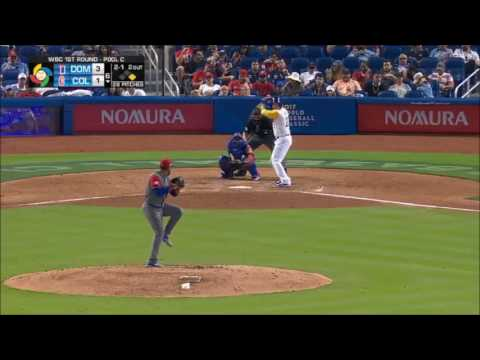 Dominican Republic vs Colombia   Game Highlights   March 12, 2017   WBC 2017
