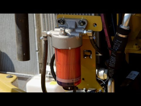 How To Change The Fuel Filter On A Cat® Mini Excavator (3-8 Ton)
