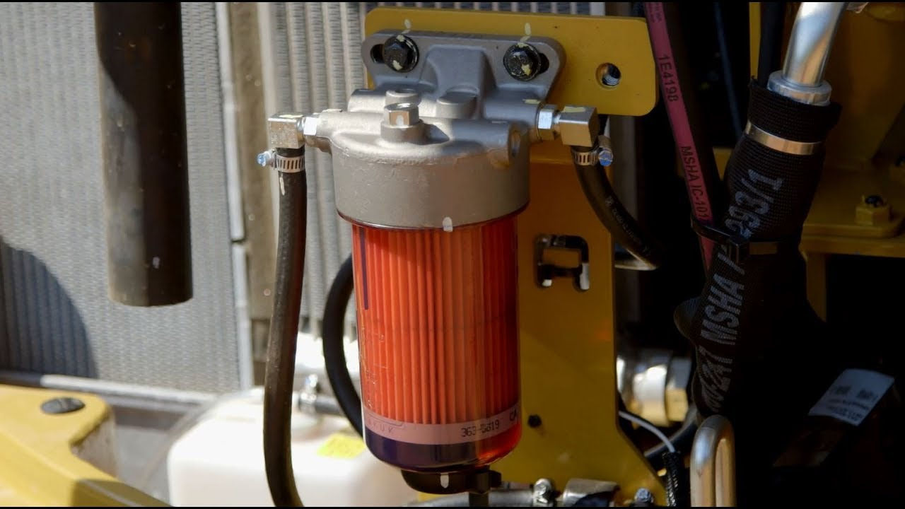 medium resolution of how to change the fuel filter on a cat mini excavator 3 8 ton