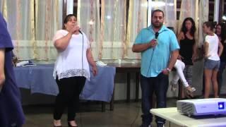 Karaoke: Romina e Fabio cantano Le Braccia Dell'Amore di M. Ranieri