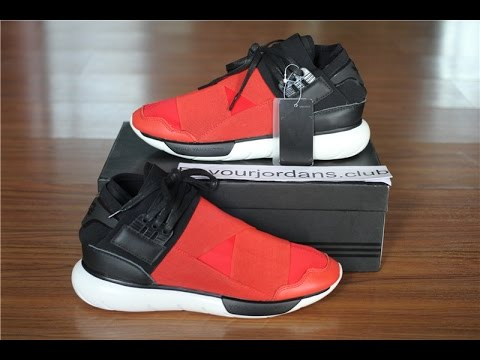 ca255ed3945d1 Adidas Y-3 Qasa High Red Black best version B25187 from Beyourjordans.club