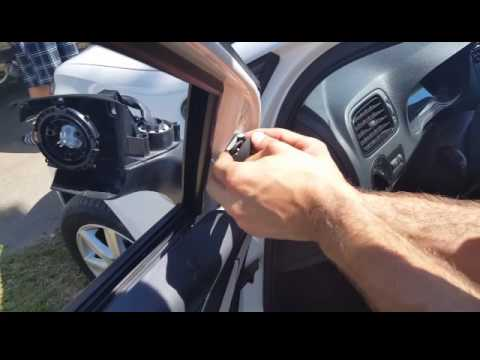 Как поменять зеркало заднего вида на Фольксваген Поло (Polo)