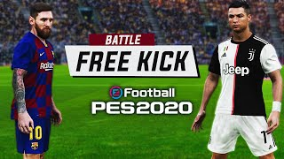 PES 2020 - Messi Vs Ronaldo - Free Kick Battle (Ft. TheKingOfPES) | HD