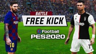 PES 2020 - Messi Vs Ronaldo - Free Kick Battle (Ft. TheKingOfPES) | HD