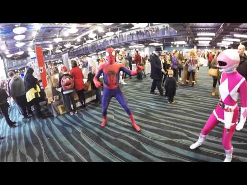 Bolton Comic Con 2015 with Sapphire Cosplay as the Pink Power Ranger