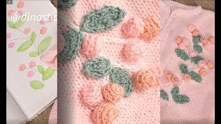 МК / мастер класс / как украсить вязаную кофточку / вязание детям /knit for kids