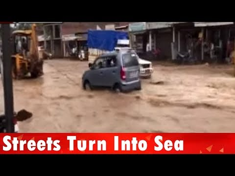 Assam: Streets turn into sea in capital Guwahati after heavy rain