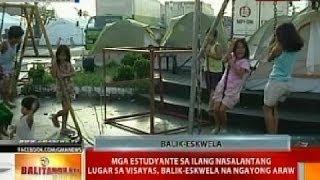 BT: Mga estudyante sa ilang nasalantang lugar sa Visayas, balik-eskwela na ngayong araw