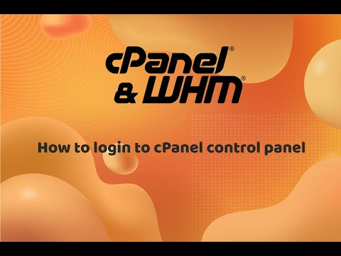 How to login to cPanel control panel
