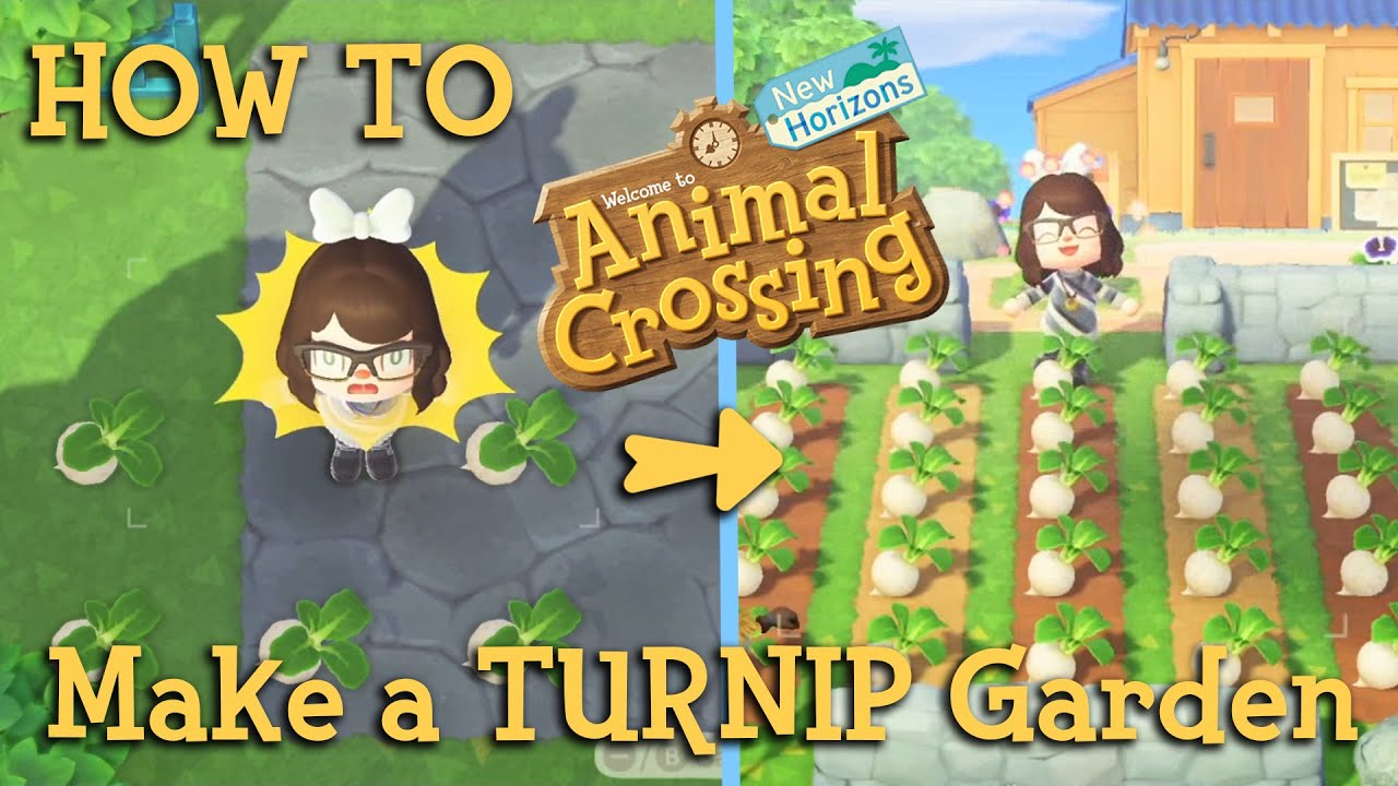 How to make a TURNIP Garden! - Animal Crossing New ...
