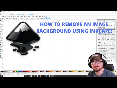 How to remove the background from an image using Inkscape