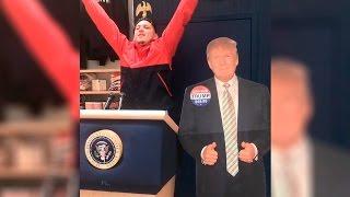 Lary Over Golpea a Donald Trump