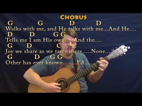 In the Garden (Hymn) Fingerstyle Guitar Cover Lesson in G with Chords/Lyrics