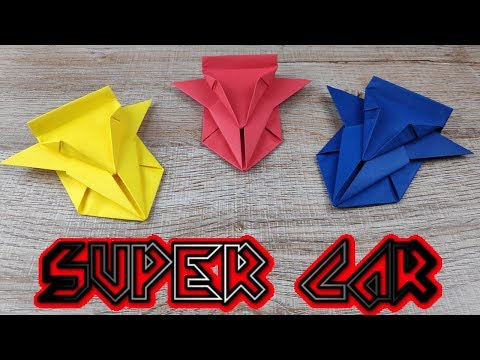 DIY Toy Paper Car | How To Make A Racing Paper Super Car Tutorials | Easy Origami Craft Kids