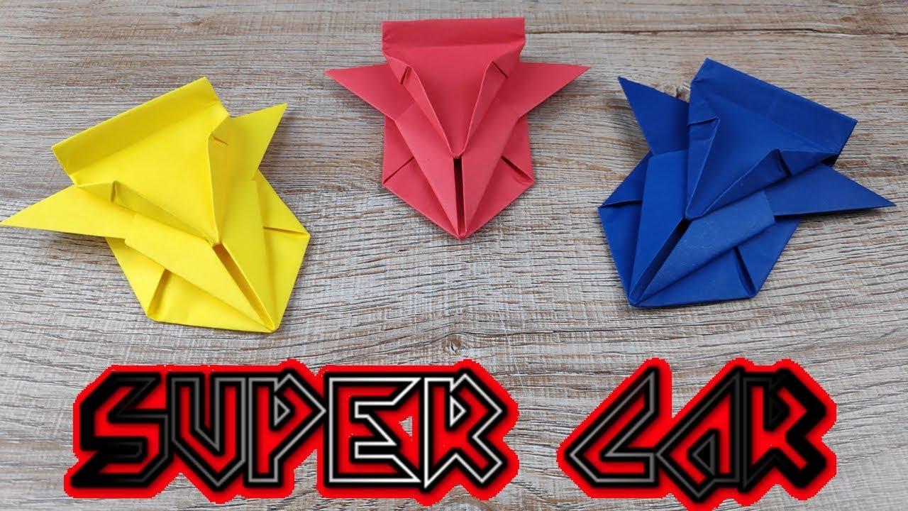 Diy Toy Paper Car How To Make A Racing Paper Super Car Tutorials