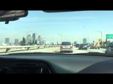 Driving through downtown los angeles on i 10ca 110 youtube sciox Choice Image