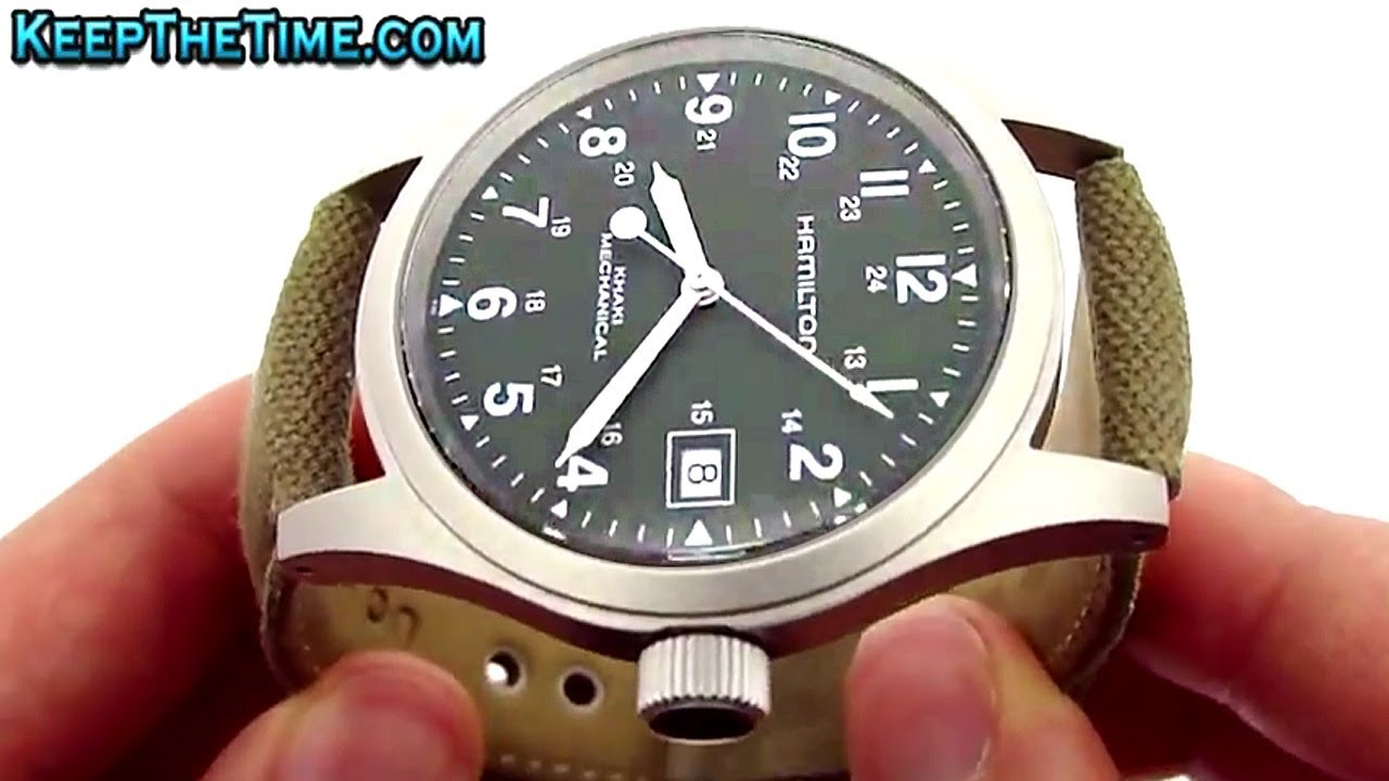 Hamilton H69419363 Khaki Field Mechanical Watch Video Review Youtube