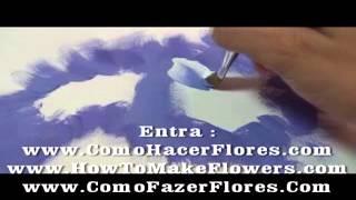 Flores para pintar en madera pintura decorativa de pinceladas muy fácil