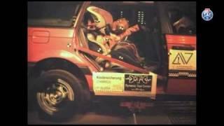 Crashtest Serie: Wenn der Gurt nicht benutzt wird.. Lorsque la ceinture n'est pas utilisée..