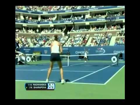 Maria Sharapova vs Agnieszka Radwanska 2007 US Open Highlights