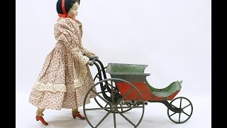 GOODWIN PATENT WALKING DOLL circa 1872