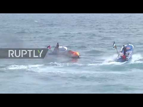 State of Palestine: Dozens injured as Israeli forces open fire at Palestinian naval march