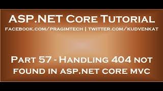 Handling 404 not found in asp net core mvc