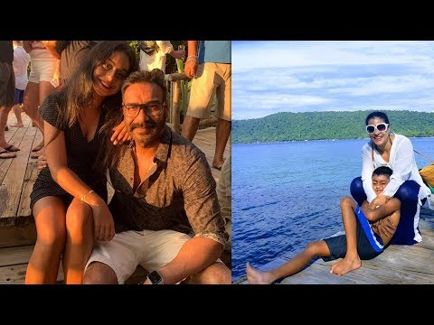Kajol and Ajay Devgan new year celebrations with daughter Nysa Devgan and Son Yug Devgan