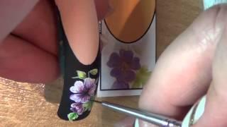 художественная роспись ногтей.Nail art painting.(видео с онлайн-курса по художественной росписи)