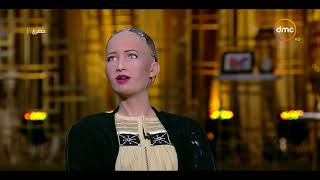 Exclusive interview with robot Sofia with media Osama Kamal
