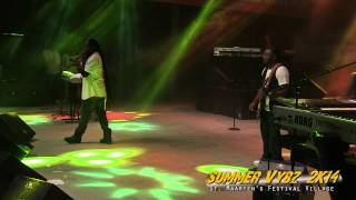 "Morgan Heritage performing ""Nothing to smile about"" at the St. Maarten Festival Village"