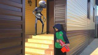 Nerf war  alien invasion Нерф вар вторжение инопланетян