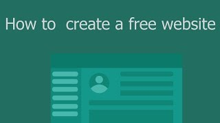 How to create a free professional website without coding