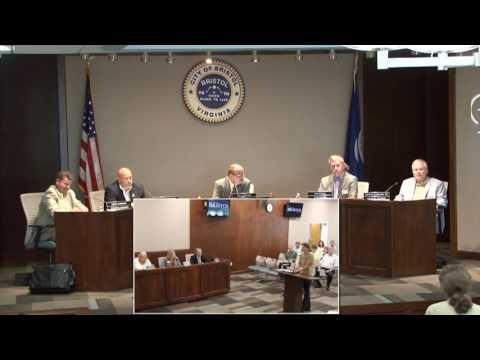 Bristol Virginia City Council Meeting August 9 2016