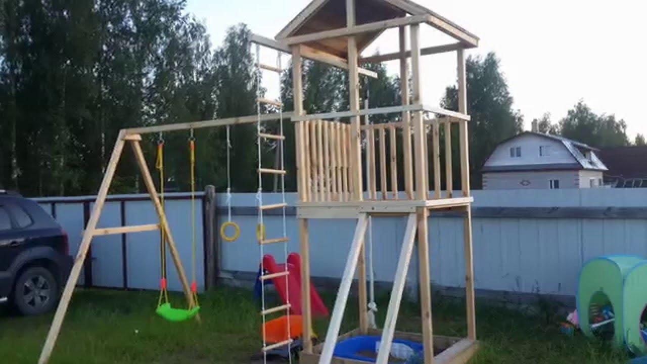 Устройство детской площадки на даче своими руками 12