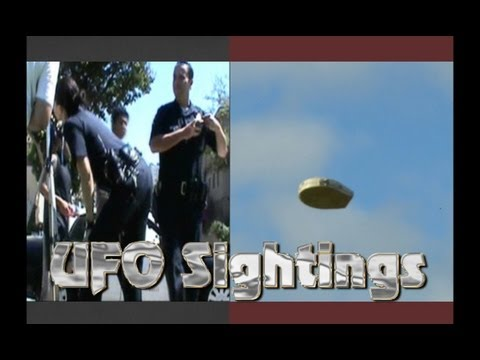 UFO Sightings LAPD Police Witness UFOs Over LA Caught On Tape! June 25 2012