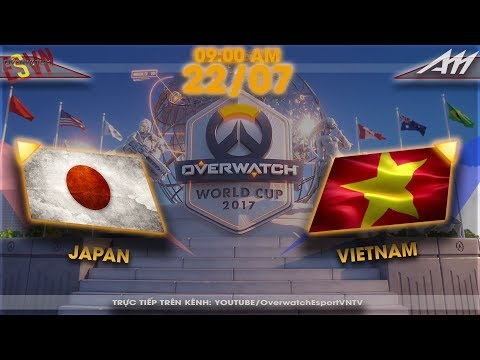 2017 Overwatch World Cup | Australia Group Stage | Japan vs Vietnam