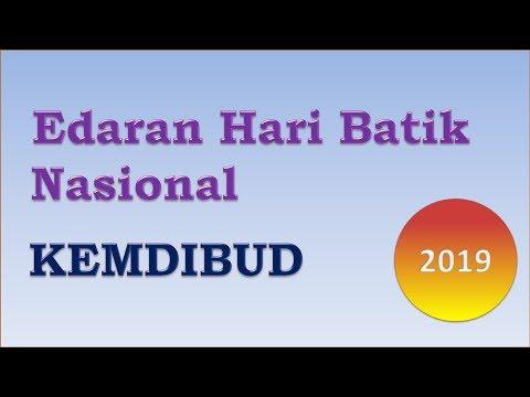 Surat Edaran Peringatan Hari Batik Nasional Th 2019