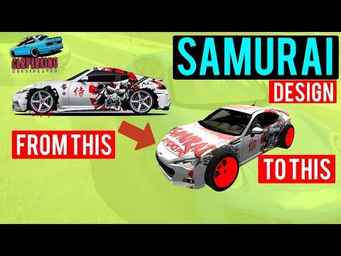 Samurai Racing Livery    Car Parking Multiplayer