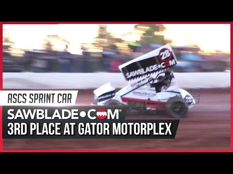 Tommy Bryant Take 3rd Place at Gator Motorplex With the Sawblade.com Sprint Car