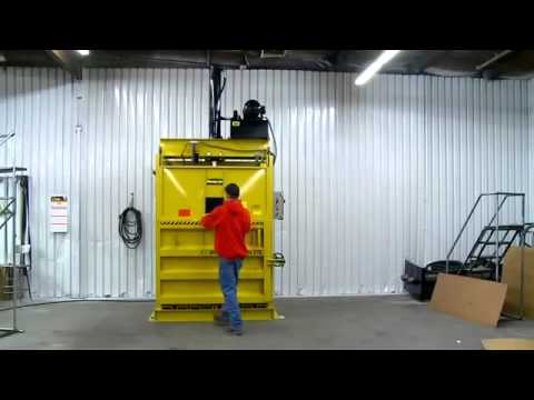 Vertical Baler For Recycling From Bay Area Trash Compactor