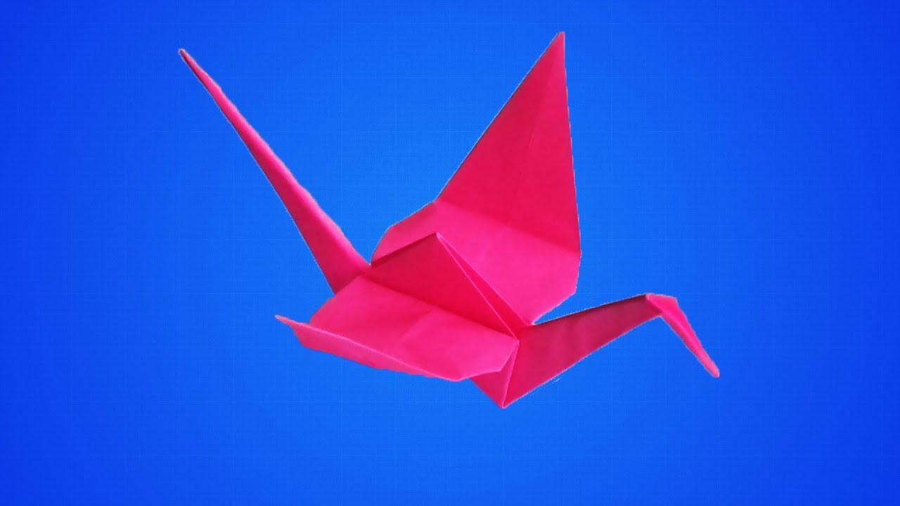 How to make an origami crane  YouTube