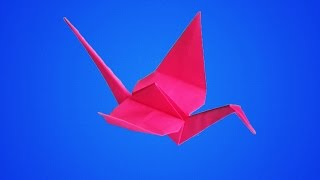 оригами из бумаги журавлик,как сделать из бумаги журавля, бумажный журавлик // origami paper crane